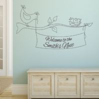 Personalised 'Welcome to the Nest'~ Wall sticker / decals